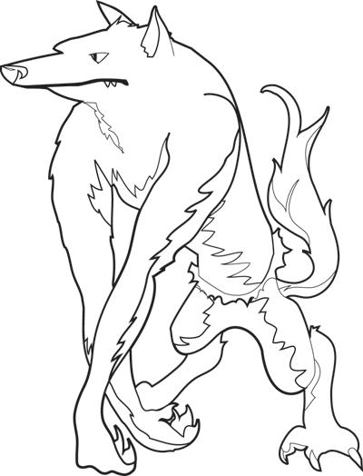 halloween coloring page werewolf  worksheets