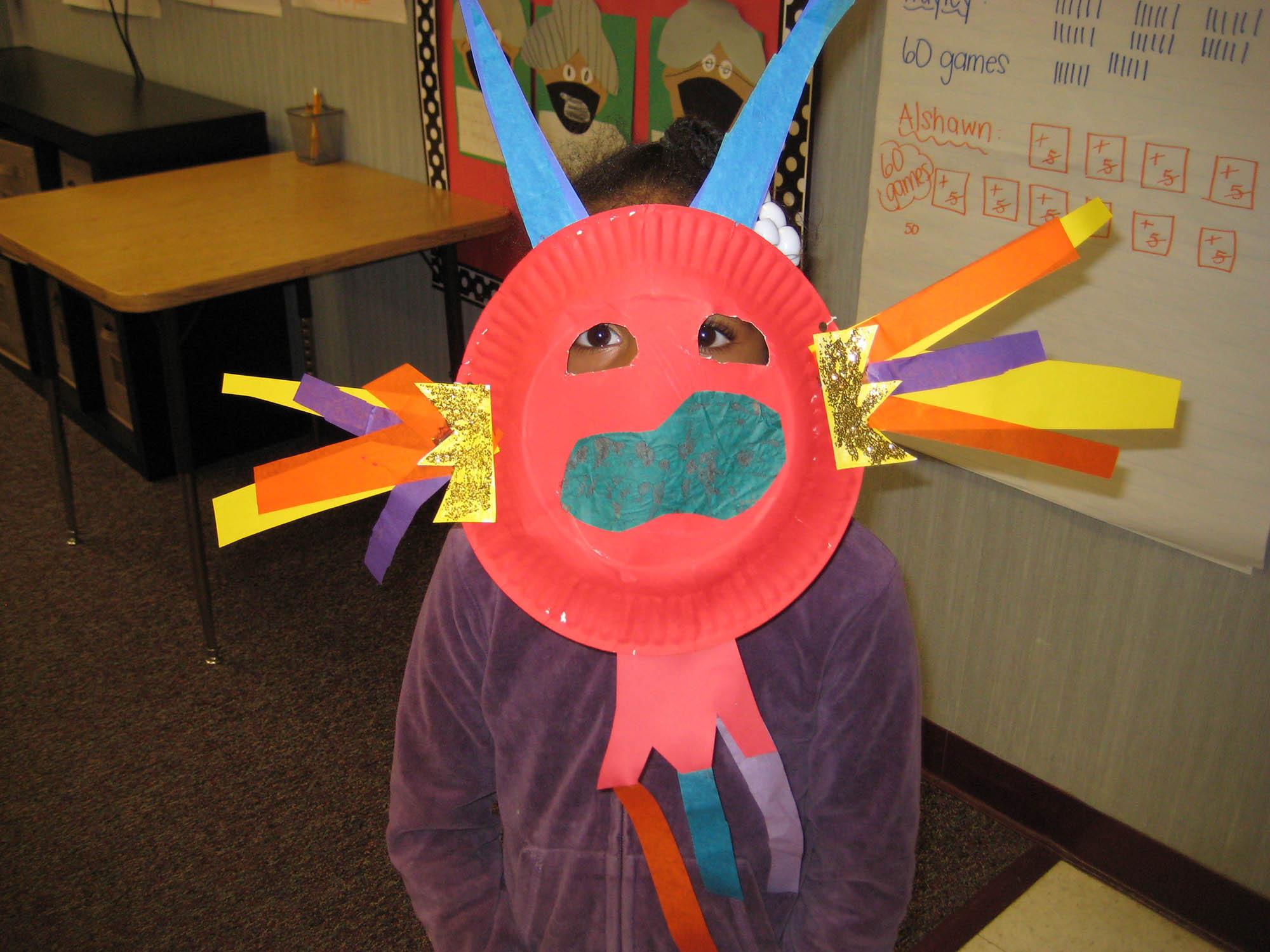 Lunar New Year Dragon Mask Craft