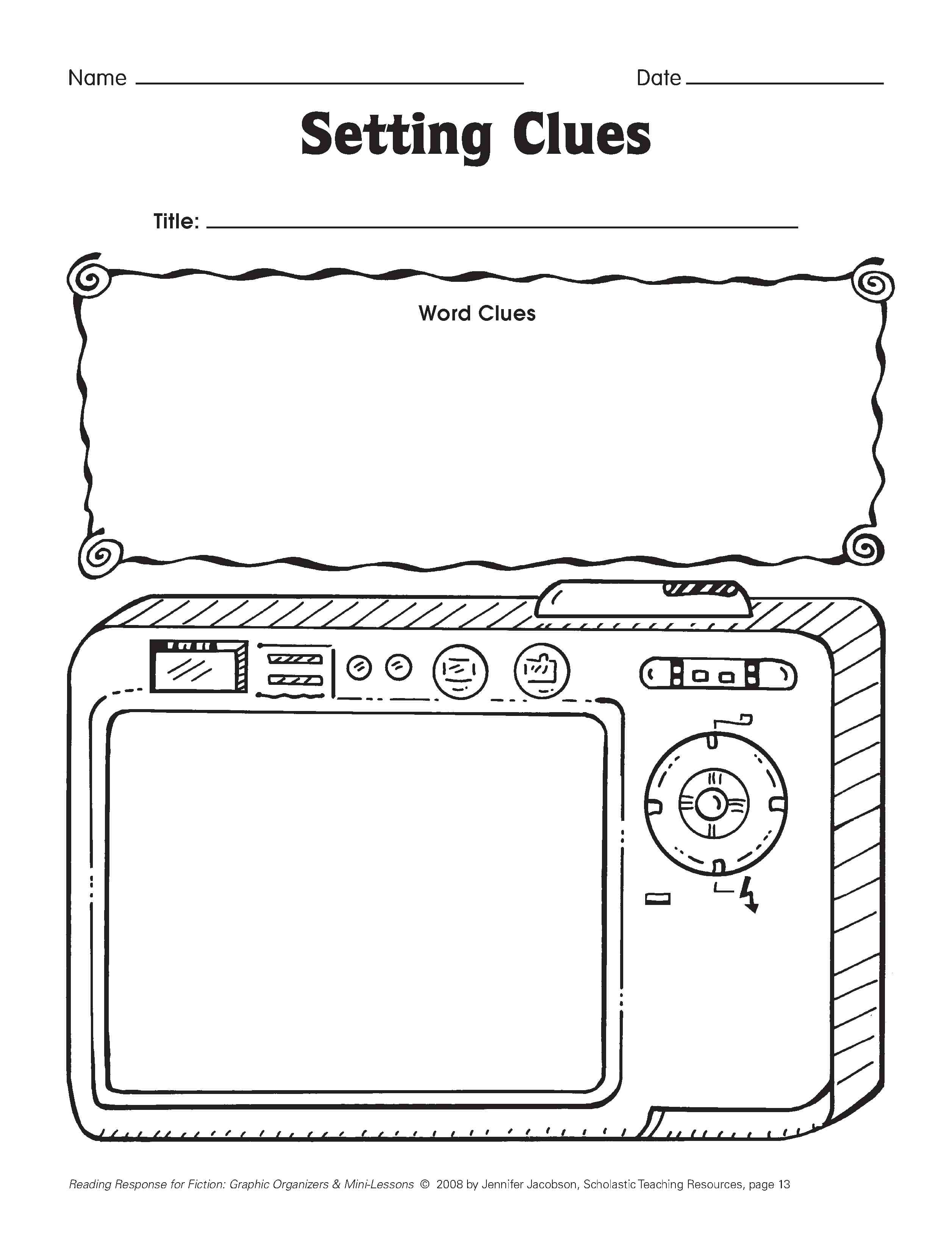 First Grade Graphic Organizer Story Elements