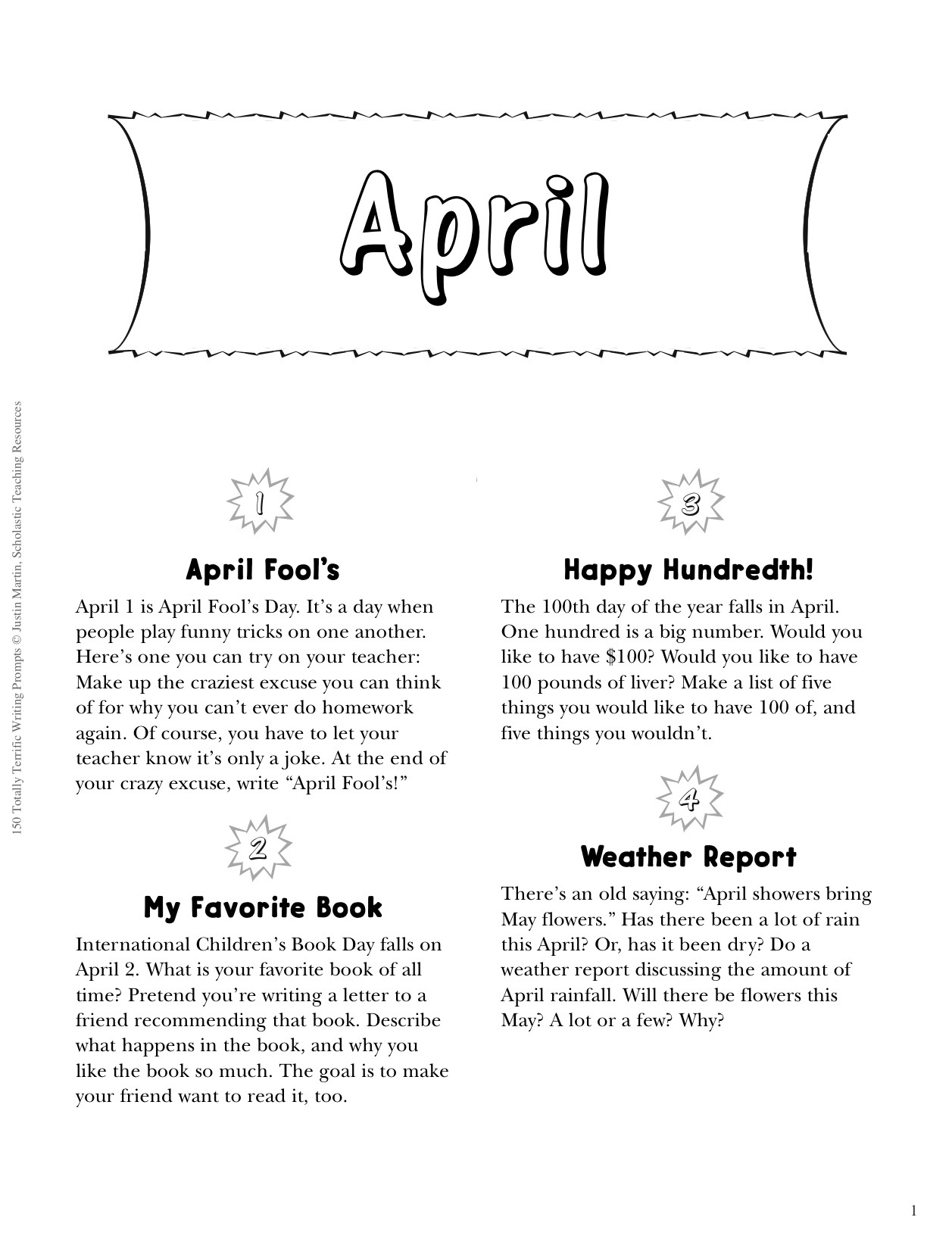 Free Printable Prompts To Spring Writing To Life