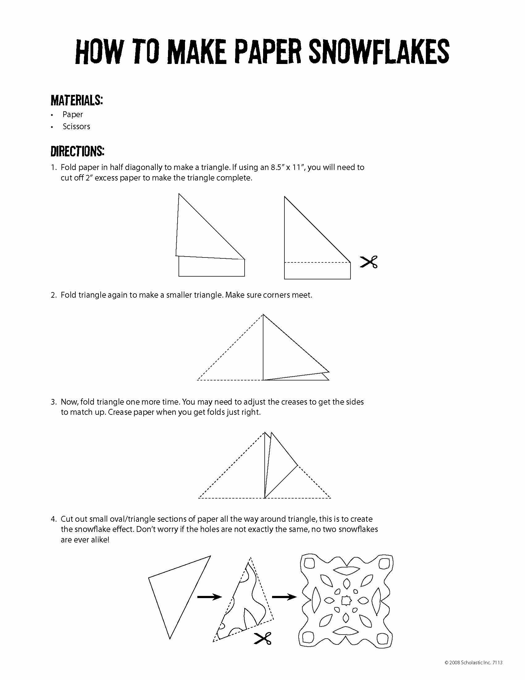 Worksheets Snowflake Science