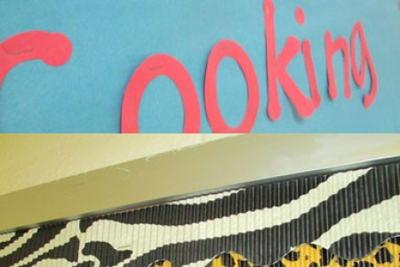 Twenty Ideas for Bulletin Board Borders   Scholastic Make your borders jazzy by doubling up on coordinating colors and designs   Layer corrugated cardboard rolls under a more colorful design