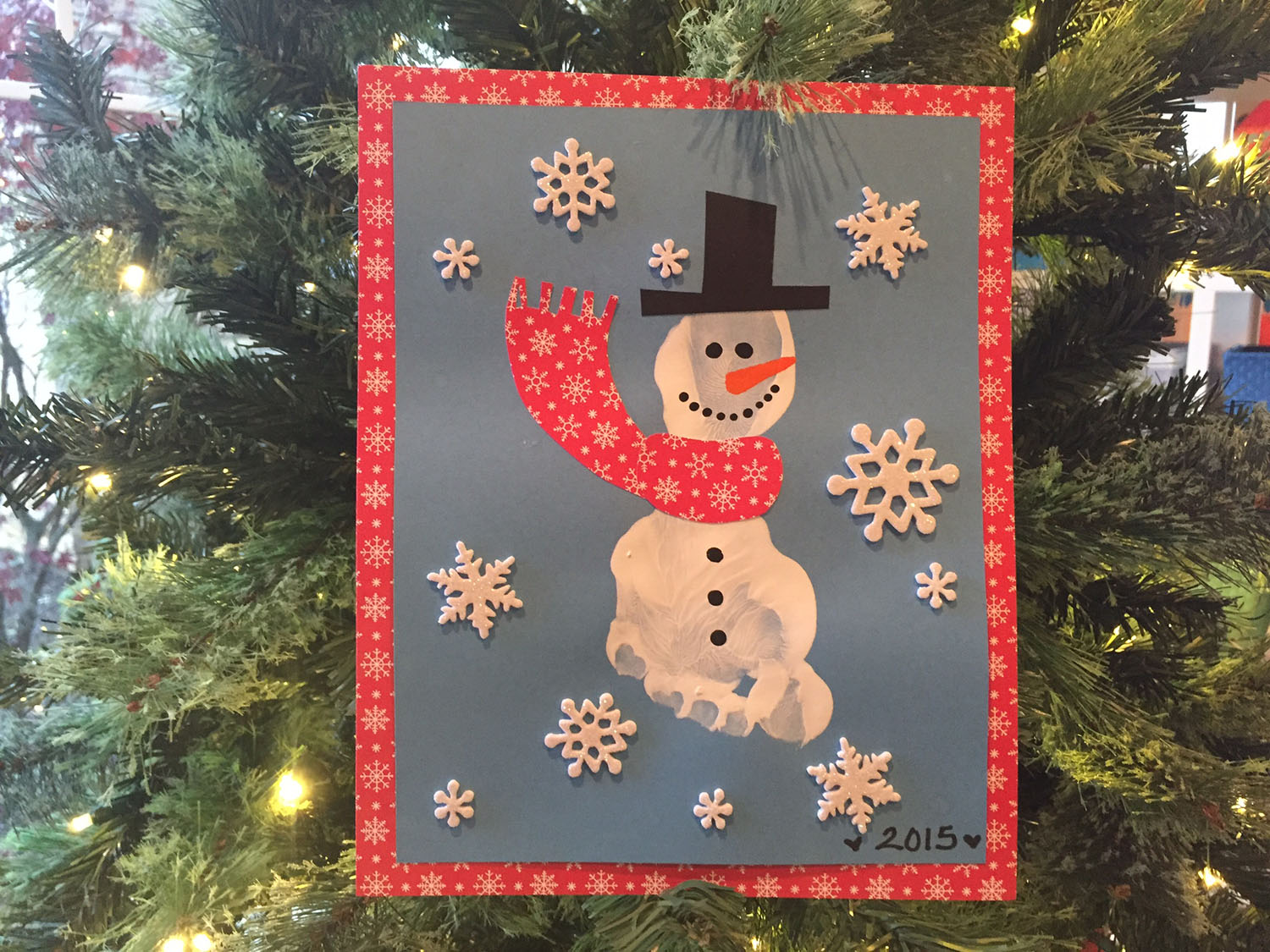 Winter Holiday Handprint Crafts With Book Pairings