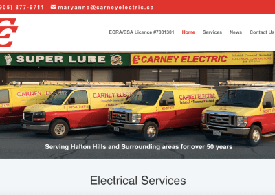 Carney Electric New website