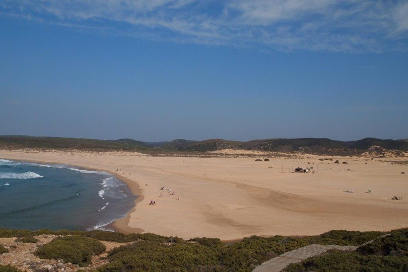 Praia do Bordeira an der portugiesischen Atlantikküste