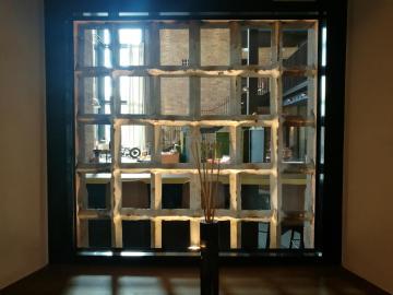 Blick vom Gang in das Restaurant im Hotel Liberty Offenburg