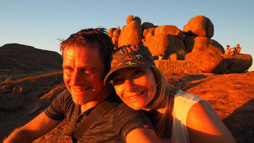 Sonnenuntergangin der Gondwana Canyon Village - Namibia