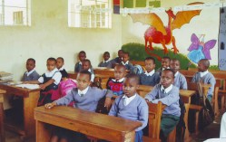 St Anne school students in classrooms