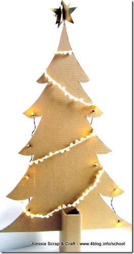Lavoretti Natale Albero Di Cartone Eco Chic Craft Christmas