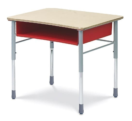 Virco I Q  Series  22    30     Adjustable Height Student Desk     School     Shown with Standard Laminate Top