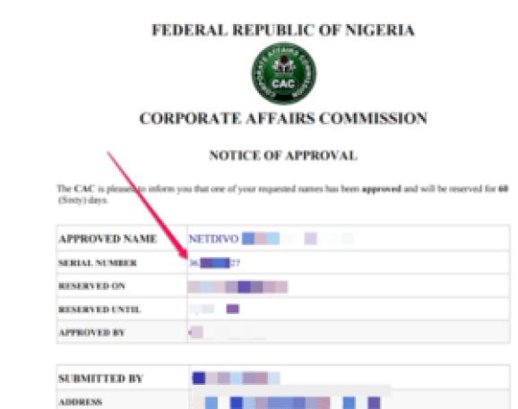 CAC Code & Company Registration Status