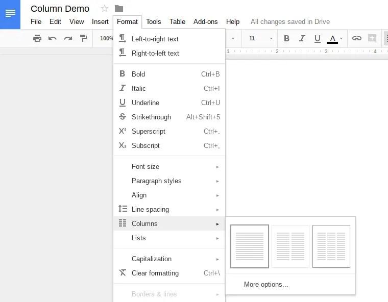 How To Make Columns In Google Docs Schooled In Tech - Google docs columns