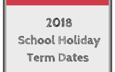 2018 School Holiday Term Dates