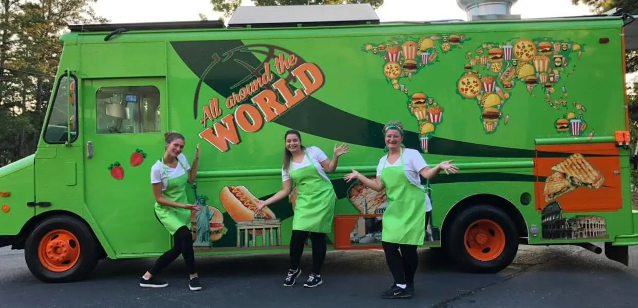 All Around the World Food Truck cooks