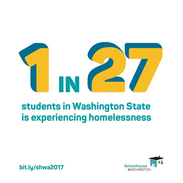 1 in 27 students in Washington State is experiencing homelessness