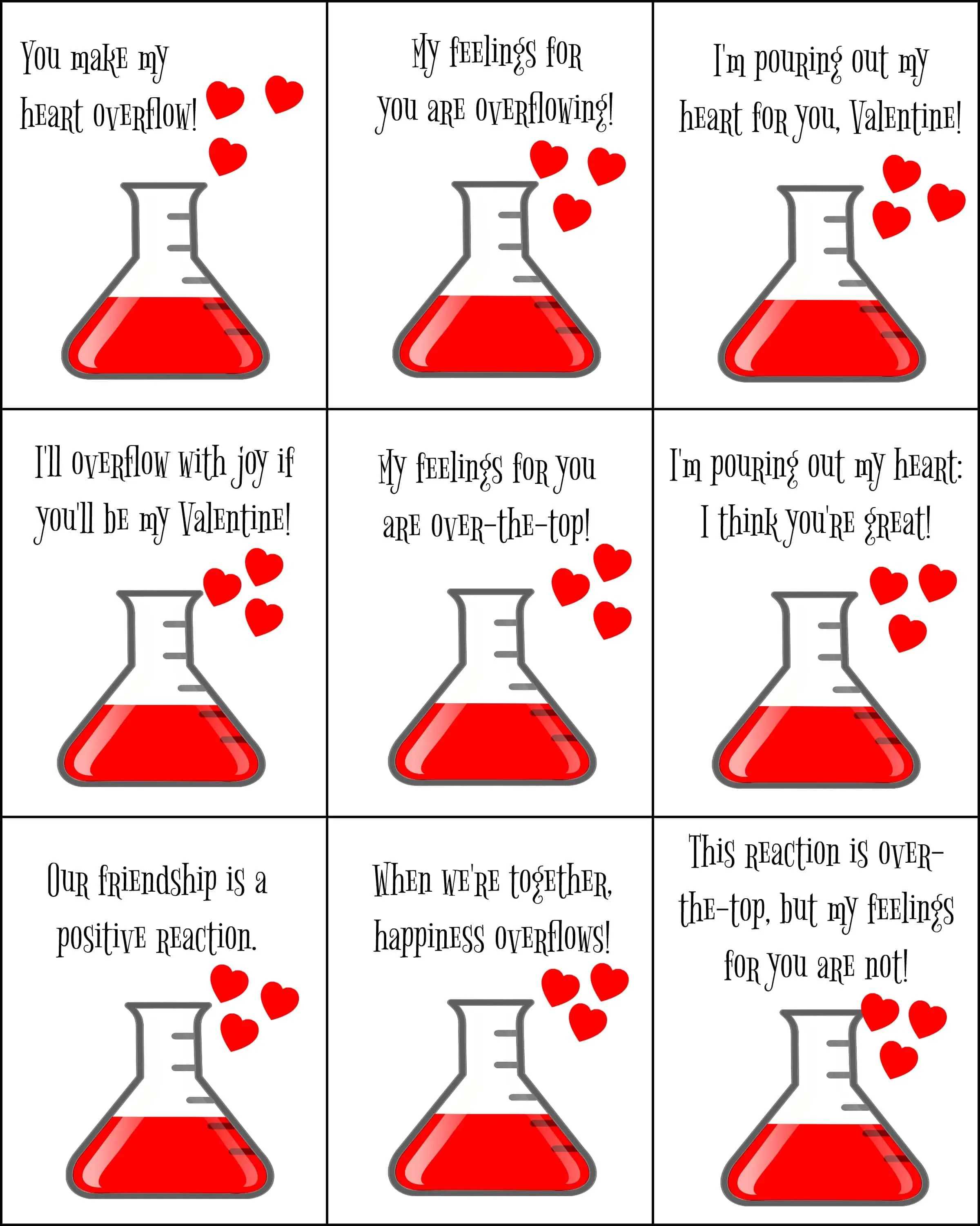 Science Valentines For Kids