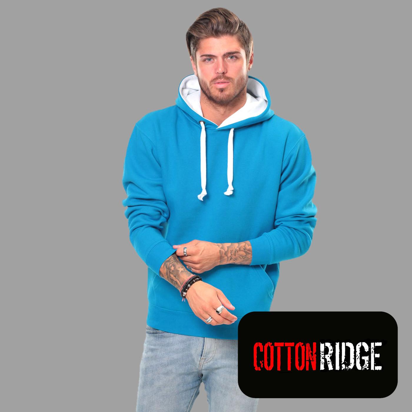 premium unisex contrast hoodie