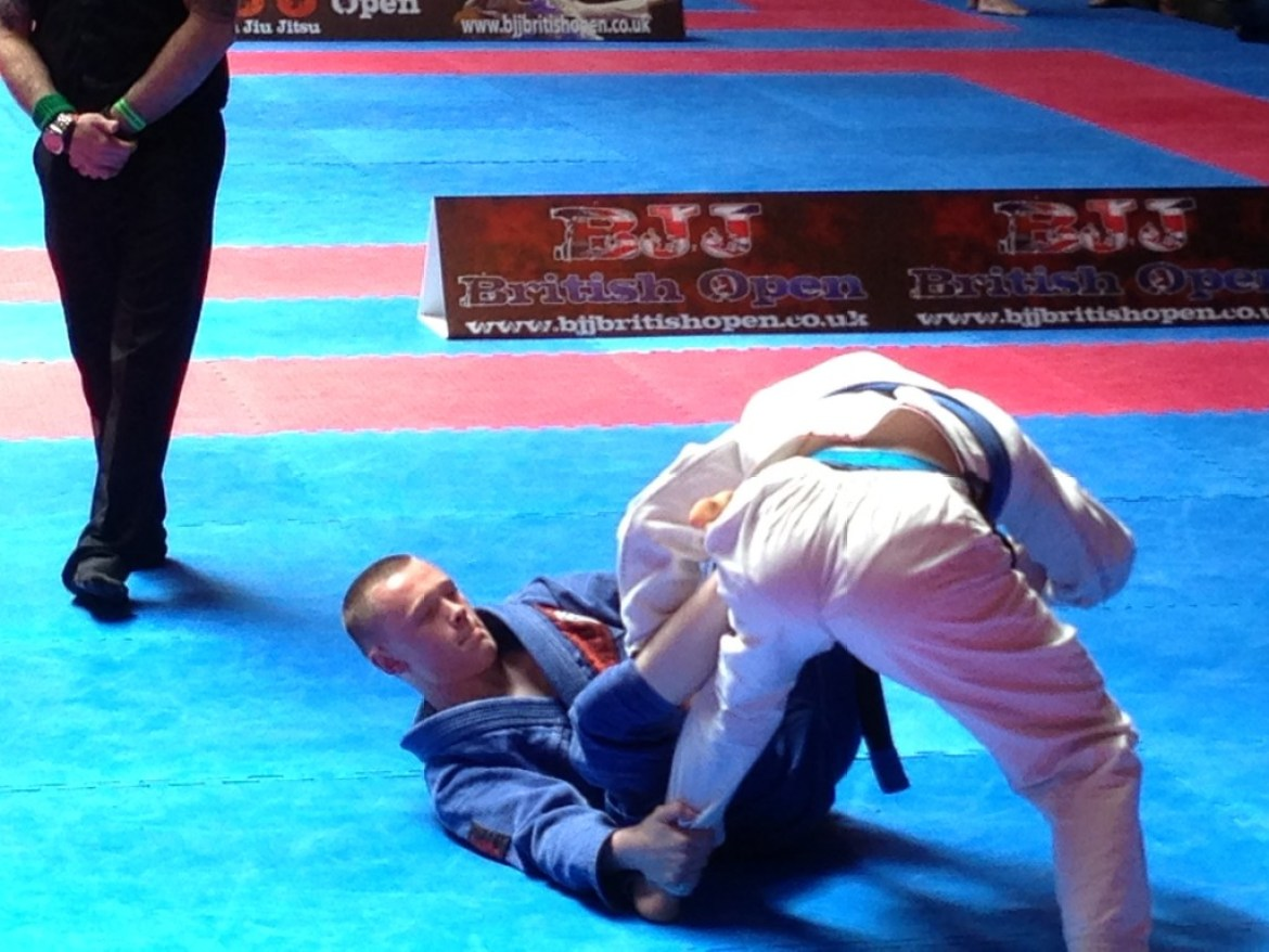Jake compeiting in the final of BJJ 2013