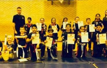 Solihull Kids KickBoxing Grading