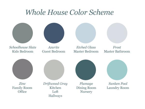 Whole house paint color palette for Good paint color for whole house