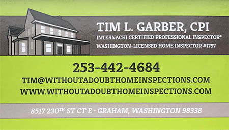 Tim Garber withoutadoubthomeinspections