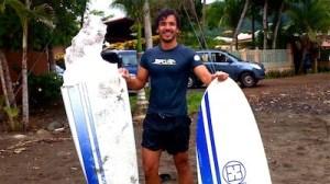 surf board broke in costa rica