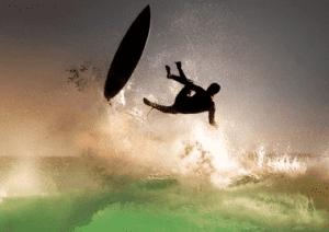 surfing proper wipeout