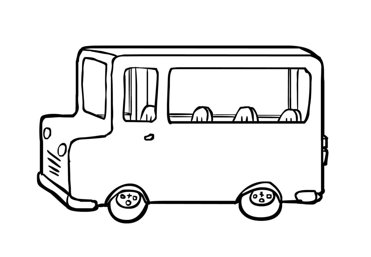 Kleurplaat Bus 2 Afb 14838