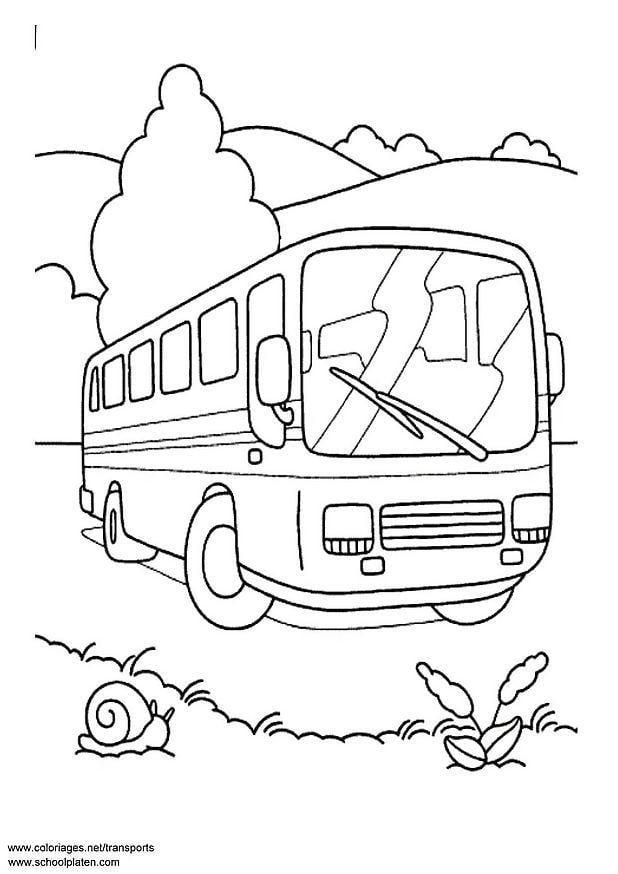 Kleurplaat Bus Afb 3089