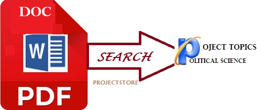 POLITICAL SCIENCE RESEARCH PROJECT TOPICS AND MATERIALS PDF AND DOC