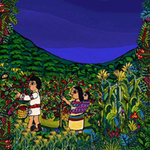 Image result for zapatista corn painting