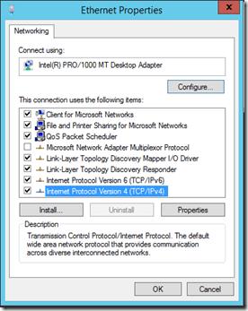 Network Adaptor Properties