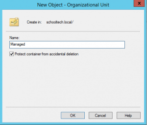 Active Directory, create OU