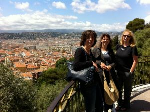 Nathalie, Carola en Sandra in Nice