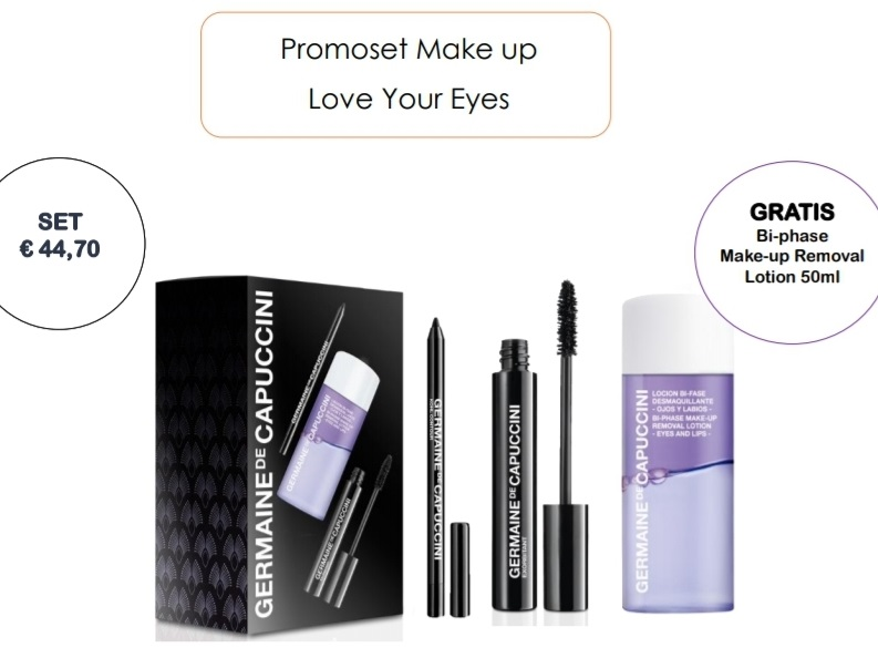Promoset Make-up love your eyes