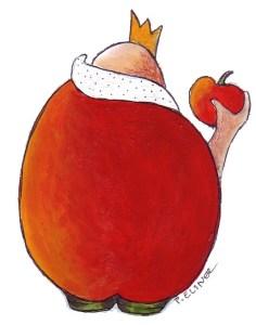 Der kleine Apfelkönig, Zeichnung von Petra Elsner
