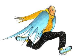 Himmlischer Bote Zeichnung: Petra Elsner