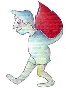 Fleckendieb Zeichnung: Petra Elsner