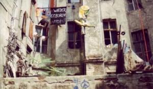 Hof in der Auguststraße 1993 Foto: Petra Elsner