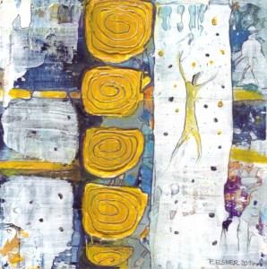 Traumfänger 2 von Petra Elsner 16 x 16, Acryl auf Karton, 2014