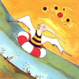 Badespaß 2 Cartoon von Petra Elsner