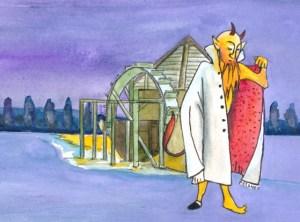 Die Teufelsmühle bei Biesenthal Zeichnung: Petra Elsner