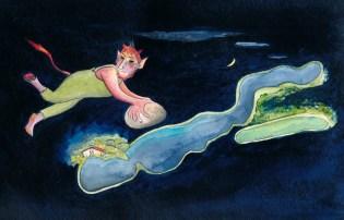 Die Teufelszungen vom Großen Döllnsee. Zeichnung: Petra Elsner