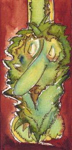 Der schlafende Wallo. Zeichnung: Petra Elsner