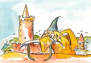 Schlangen in Bernau Zeichnung: Petra Elsner