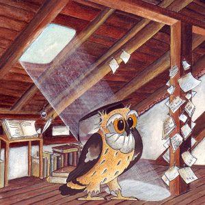 Meanders Quartier unter dem Dach. Zeichnung: Petra Elsner