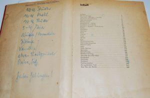 Der Rezeptzettel in meinem alten Kochbuch.