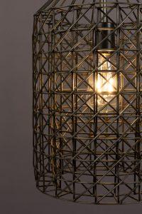 Lampe Industrie Metall Gitter Schwarz Hängelampe