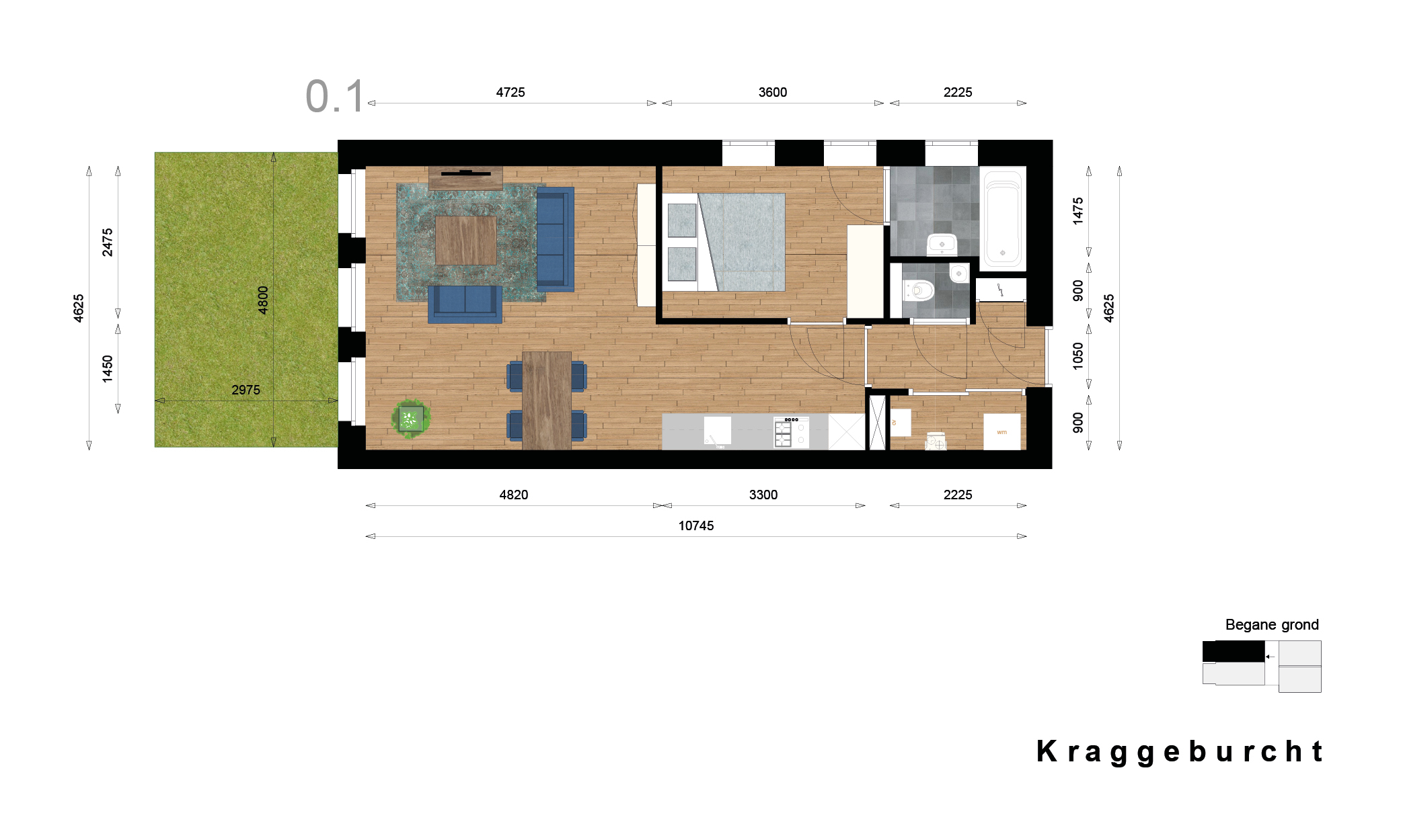 Kraggenburcht – Appartement type 1