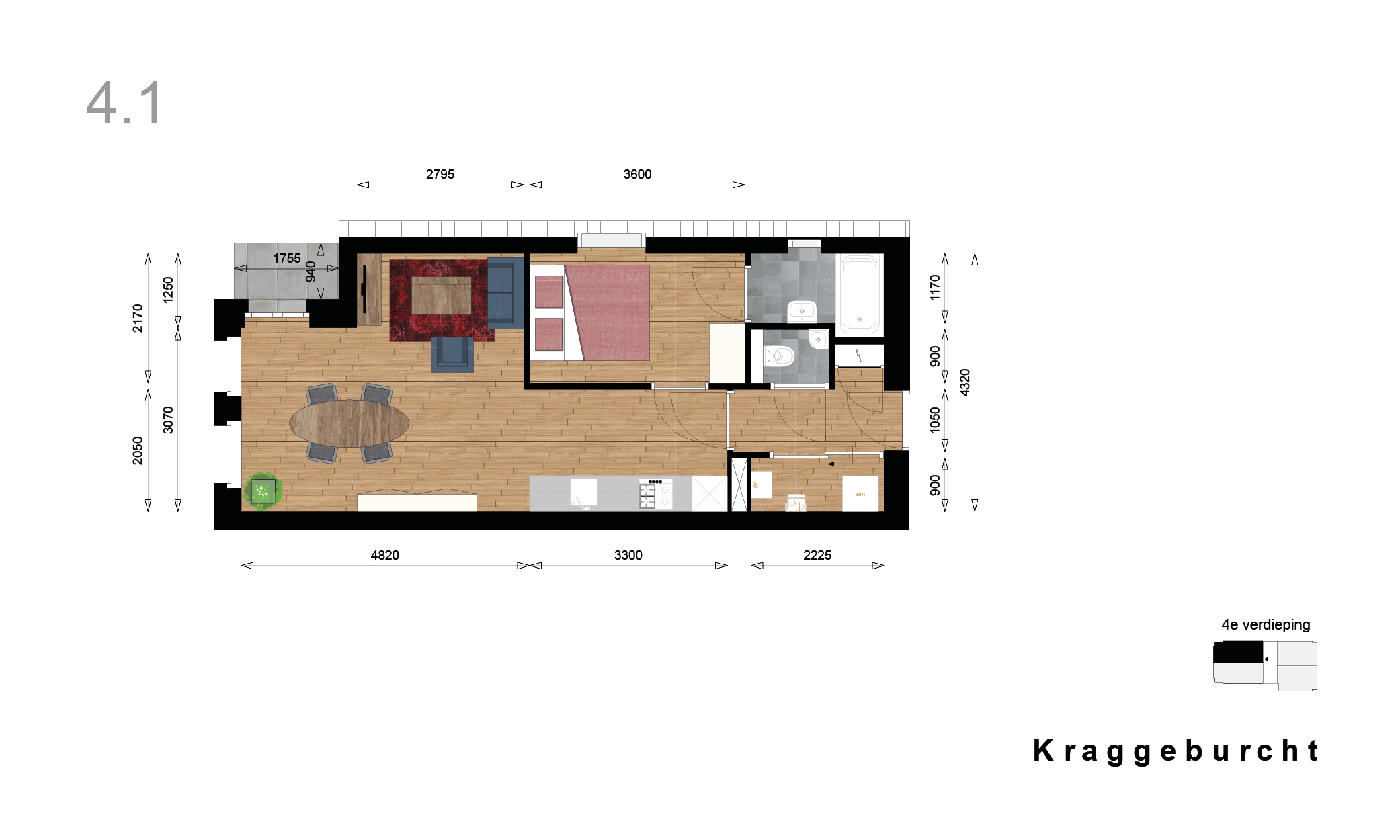 Kraggenburcht – Appartement type 4